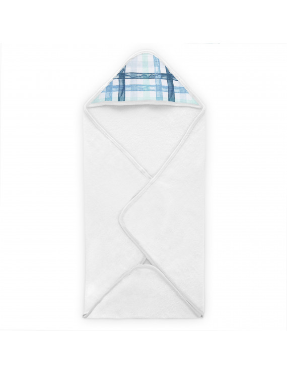 aden + anais essentials, hooded towel, retro - plaid