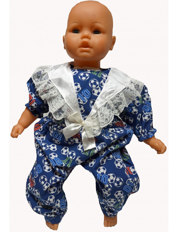 Doll Clothes Superstore Soccer Print Jumpsuit Fits Big Baby Dolls In The 21 to 23 Inch Size