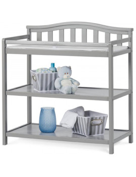 Arch Top Changing Table by Forever Eclectic, Cool Gray