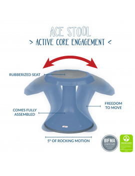 15in ACE Stool - Blue