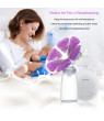 Electric Breast Pump Double Breast Pump hands-Free Breastpump with 2 x Cold Heat Pad and 2 x Nipple