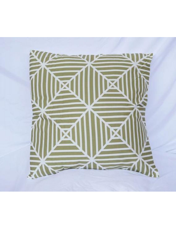 Clashing Stripes - Mosstone - Cotton Throw Pillow