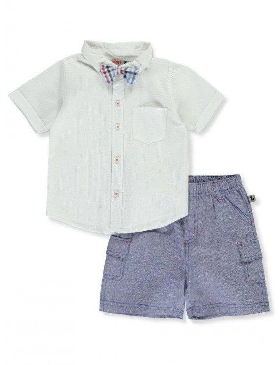 DDG Sport Baby Boys' Suspender 2-Piece Shorts Set Outfit (Infant)