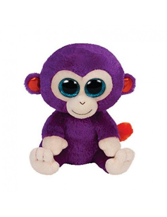 ty beanie babies plush grapes the purple monkey 6""