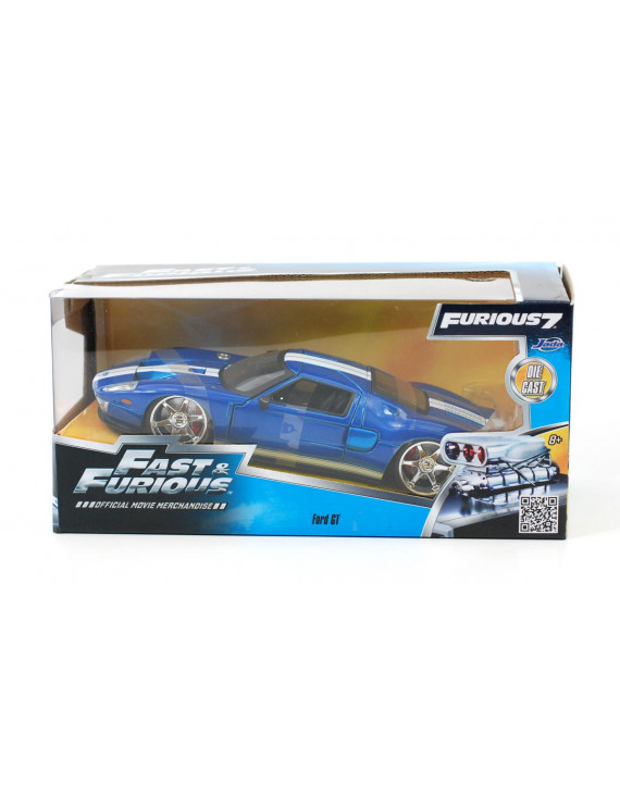 "Ford GT Fast & Furious 7"" Movie Blue 1/24 Diecast Model Car by Jada """
