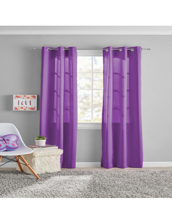 Your Zone Kids Grommet Room Darkening Curtains, Set of 2
