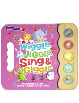 Wiggle Jiggle Sing and Giggle: Song Book Wood Module with Handle (Board Book)