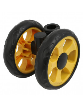 105mm Dia Plastic Double Wheel 360 Degree  Pulley for 16mm Round Tube