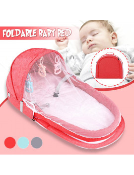 2 IN 1 Foldable Portable Baby Infant Travel Sleep Bag Bed Crib with Mosquito Nets