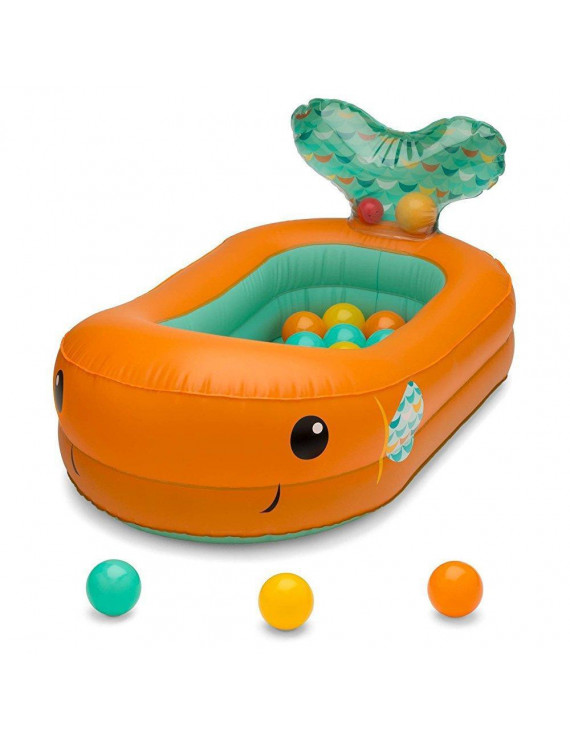 Infantino Go Gaga Bubble Ball Bath Tub-Orange Orange