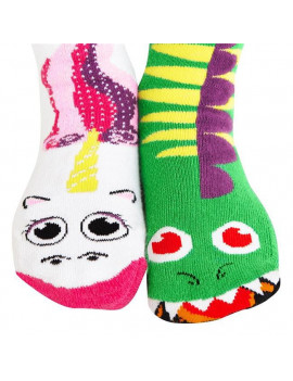 Dragon & Unicorn - Fun Kids Socks, 4-8 Years