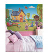Doc McStuffins Chair Rail Prepasted Mural, 6' x 10.5', Ultra-strippable