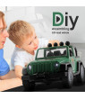 Roseonmyhand DIY Assembled Off-road Truck With Engine Sounds LED Lights