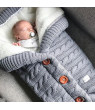 25.6x15.7 inch Baby Winter Sleepping bag Newborn Warm Sleeping Bags Infant Button Knit Swaddle Swaddling Wrap Stroller Wraps Toddler Blanket