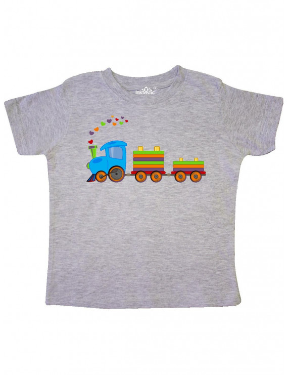 Colorful Toy Train Toddler T-Shirt