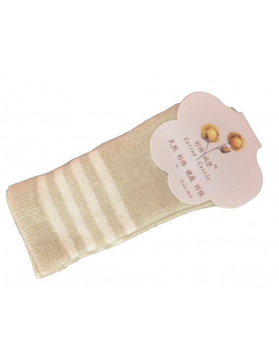 Lian LifeStyle Baby's 3 Pairs Pack organic Cotton Crew Socks Strip Size(0Y-4Y)