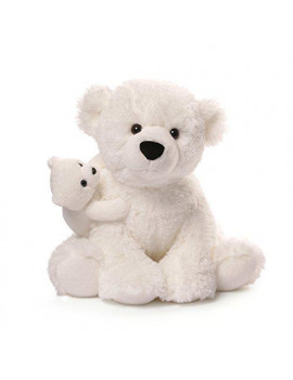 Gund Polar Bear & Baby Plush, 12""