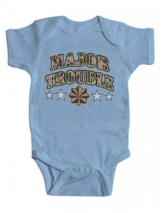 Toddlers Major Trouble Bodysuit