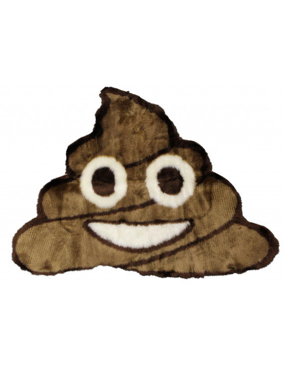 Emoji Rug Soft and Cute - Perfect for Children - Made in France - Poop