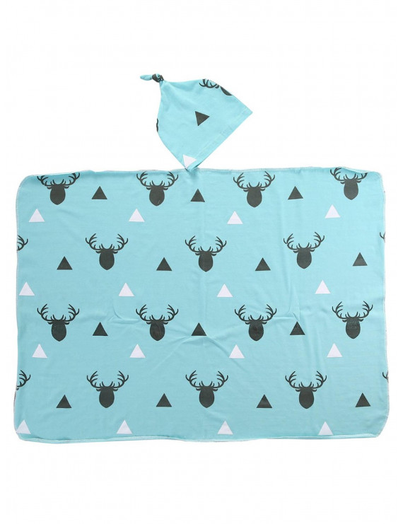 Hirigin Newborn Infant Baby Boy Deer Swaddle Blanket Boy Coming Home Cotton Bath Towel