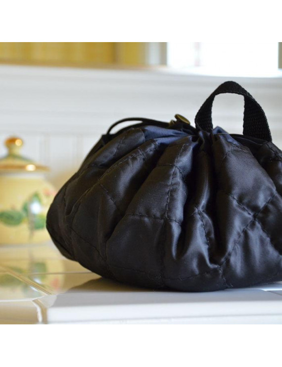 """Lay-n-Go COSMO (20"""") : Black Cosmetic Bag, Travel Organizer, Toiletry Makeup Pouch"""