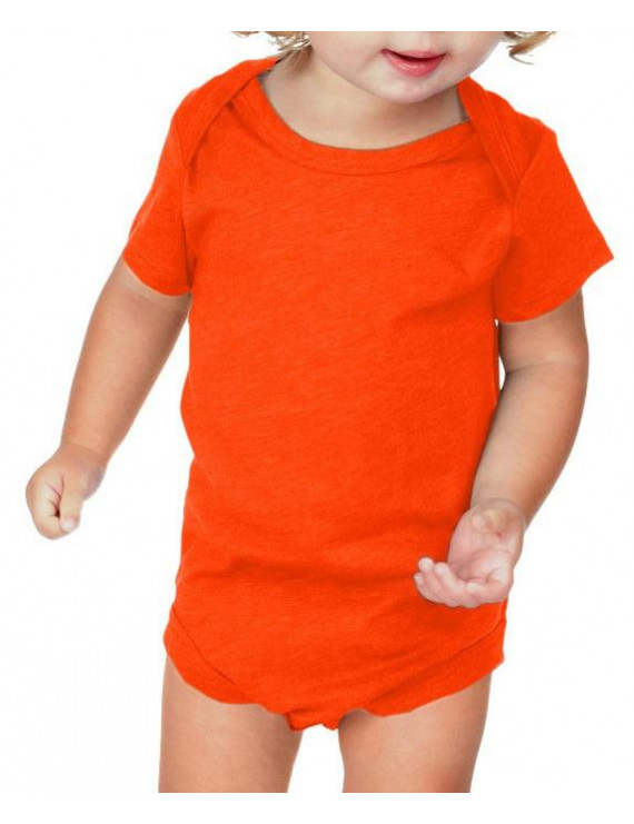 Kavio IJP0492 Infants Lap Shoulder Short Sleeve Onesie Jersey CVC.(Replaces 0431)-Varsity Orange-24M