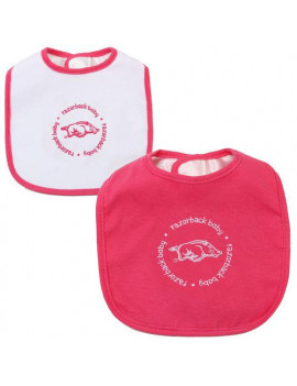 Arkansas Razorbacks Infant 2-Pack Baby Bib Set - Pink/White