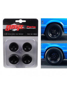 1 isto 18 Wheels & Tires from 1993 Ford Mustang Cobra 1320 Drag Kings King Snake, Set of 4