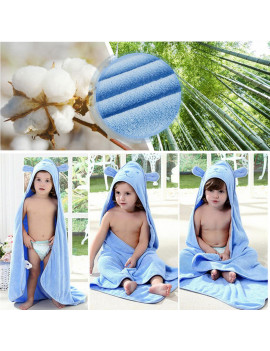 100% Cotton Baby Hooded Towel Set Bath Towels , 35 x 35 inch Soft ,Extra Thick,Breathable Hooded Baby Towel  for Infant, Toddler, Newborn and Kids