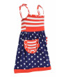 Unique Baby Girls 4th of July Patriotic Dress (18 Months, Red)