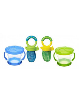 2 x Munchkin Snack Catcher, 9 Ounce and 2 x Munchkin Fresh Food Feeder Colors may vary