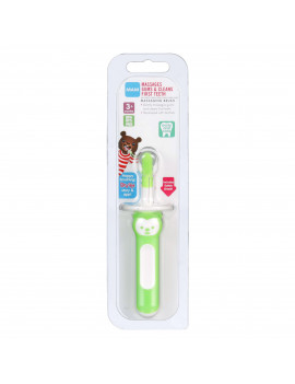 MAM Massaging Toothbrush, Baby Toothbrush and Gum Massager, Unisex, 3+ Months, 1-Count