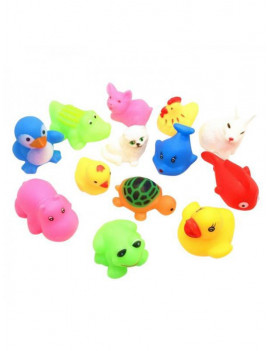 13pcs Baby Play Game Water Bath Float Squeaky Animal Spray Educational Toy