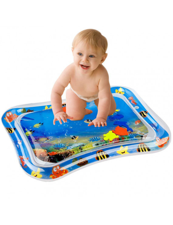 Inflatable Baby Water Mat Infant Tummy Time Playmat Toddler Fun Activity Play Center