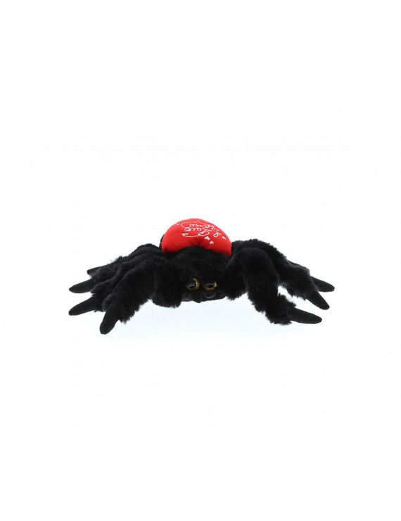 Dollibu Black Spider I Love You Valentines Stuffed Animal - Heart Message - 7 inch - Wedding, Anniversary, Date Night, Long Distance, Get Well Gift for Her, Him, Kids - Super Soft Plush