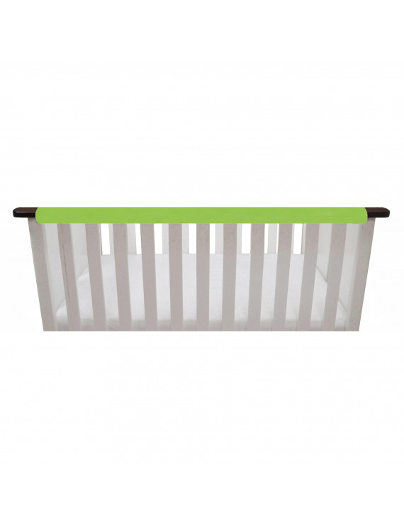 "Go Mama Go Designs Lime and White 52"" x 6"" Reversible Teething Guard"