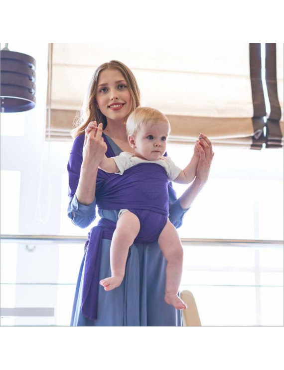 Amerteer Baby Wrap Ergo Carrier Sling - Available in 5 Colors - Baby Sling, Baby Wrap Carrier, Nursing Cover - Specialized Baby Slings and Baby Wraps for Infants and Newborn - Purple