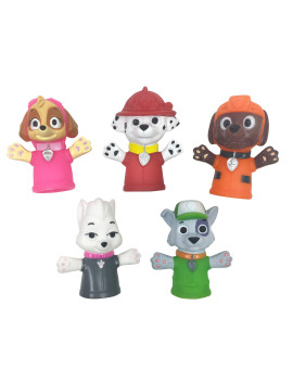 Nickelodeon Paw Patrol Bath Finger Puppets, Marshall & Friends