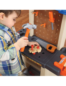 Step2 Handy Helper's Workbench with Kids Tool Set for Pretend Play