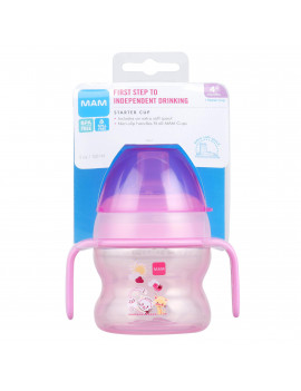 MAM Starter Cup, Starter Cups for Babies with Handles, Girl, 5 Ounces, 1-Count
