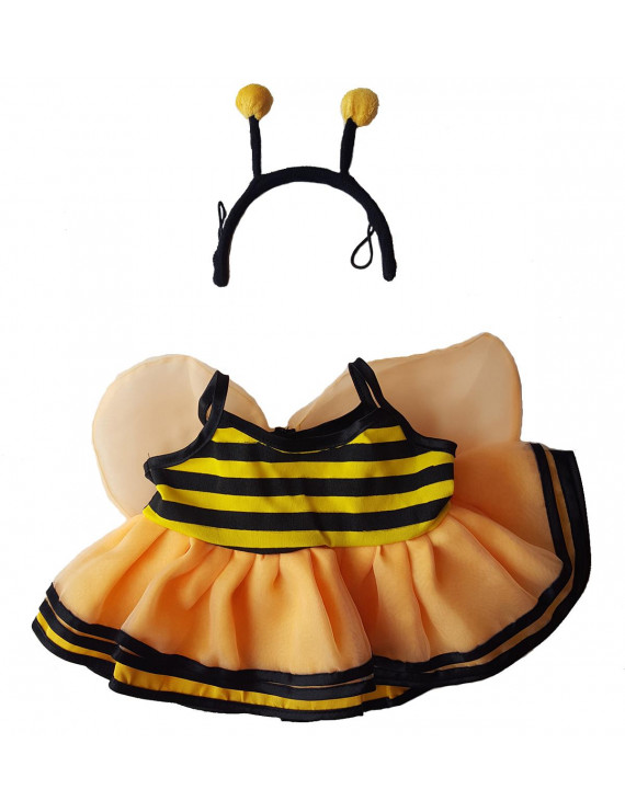 "Bumble Bee Outfit Teddy Bear Clothes Fits Most 14"" - 18"" Build-a-bear and Make Your Own Stuffed Animals"