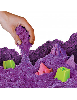 National Geographic Ultimate Play Sand Purple 12 lbs with 6 Castle Molds