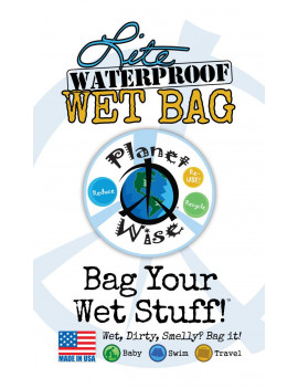 Planet Wise Medium Lite Wet Bag, To The Point
