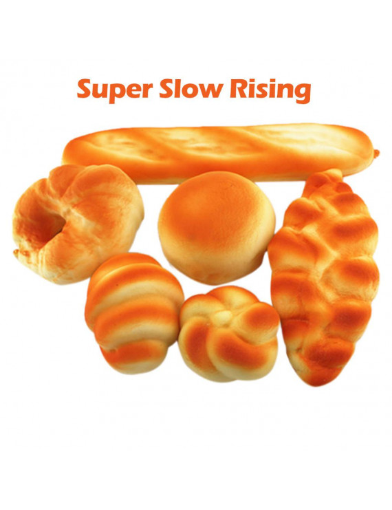 6pcs Simulated Bread Set Scented Slow Rising Kids Gift Fun Stress Relief Toy