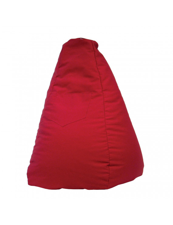 Large Tear Drop Demin Look Bean Bag with Pocket