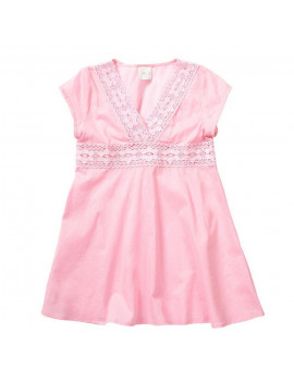 Azul Little Girls Pink V-Shape Neckline Cap Sleeve Tunic Cover Up