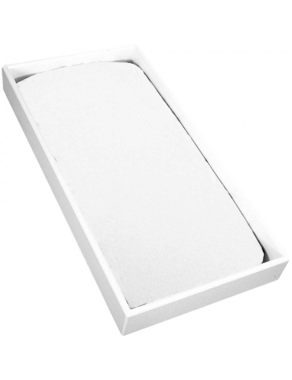 Kushies Change Pad Fitted Flannel Sheet, White