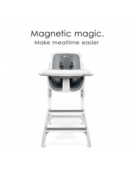 4moms High Chair with Magnetic Tray, White/Grey