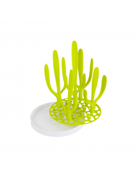 Boon Sprig Space-Saving Countertop Drying Rack, Holds Up to 8 Baby Bottles, Green