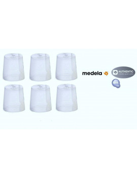(6) Medela Clear Travel Caps/ bottle cap/ nipple cap/ collar cap - Genuine for Use with Collar Ring - Medela Bottles